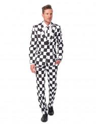 Zwart-wit Suitmeister™ kostuum voor heren