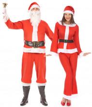 Kerstman en Kerstvrouw kostuum voor volwassenen