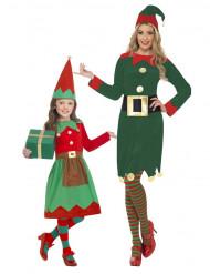 Koppel kostuum kerst elf moeder en dochter