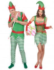 Kerstkabouter kostuum voor koppel