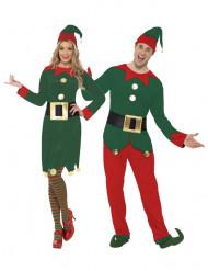 Elfen van de Kerstman kostuum koppel