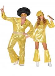 Gouden disco koppel kostuum