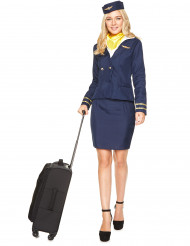 Blauwe stewardess kostuum voor vrouwen