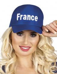 Blauwe Frankrijk supporter pet voor volwassenen