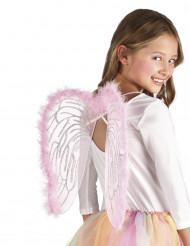 Roze engel vleugels voor kinderen