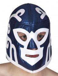 Blauw worstelaar masker voor volwassenen