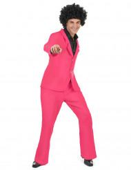 Roze disco kostuum voor volwassenen