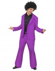 Paars disco kostuum voor heren