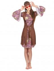 Retro hippie psychedelische outfit voor vrouwen