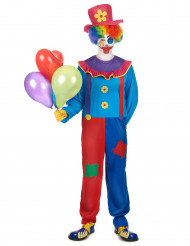 Meerkleurig clown kostuum voor mannen