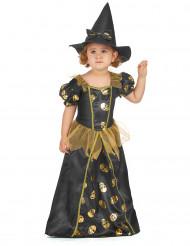 Goudkleurig heksen kostuum voor meisjes