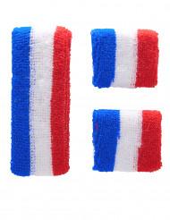 Frankrijk supporter hoofd- en polsbanden voor volwassenen