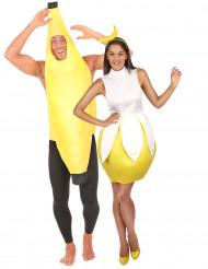 Bananen koppel kostuums voor volwassenen