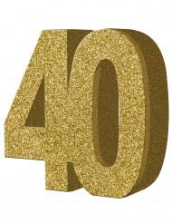 40 jaar goudkleurige tafeldecoratie