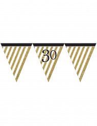 Zwarte en gouden 30 jaar vlaggenslinger