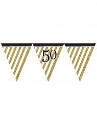 Zwarte en gouden 50 jaar slinger