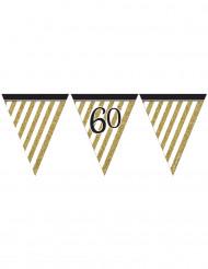 Zwarte en gouden 60 jaar slinger