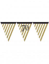 Zwarte en gouden 70 jaar slinger