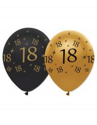 18 jaar zwart en gouden ballonnen