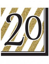 16 papieren 20 jaar servetten