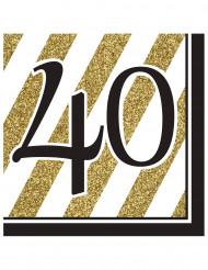 16 servetten 40 jaar