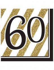 16 servetten 60 jaar