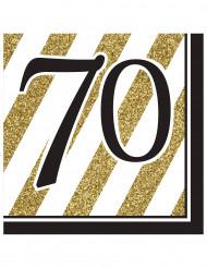 16 Servetten 70 jaar