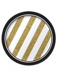 8 kleine gouden bordjes