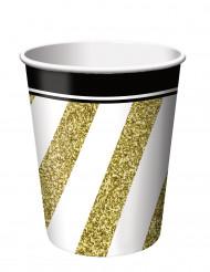 8 bekers zwart-goud 266 ml