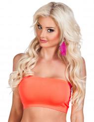 Korte oranje top voor vrouwen