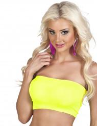 Korte gele tube top voor vrouwen
