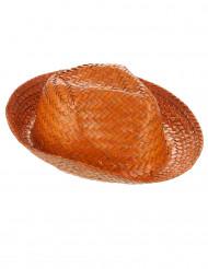 Oranje Panama hoed voor volwassenen