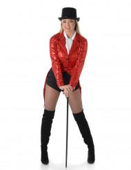 Rode cabaret jas voor vrouwen