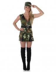 Miss Camo soldaten kostuum voor vrouwen