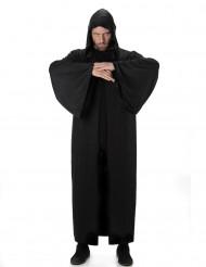 Lange donkere cape met capuchon voor mannen