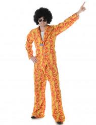 Rood geel hippie kostuum voor mannen