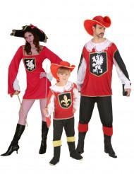 Rode Musketier familie kostuums