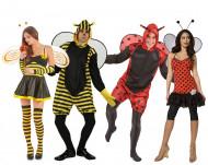 Bijen en lieveheersbeestjes groepskostuum voor volwassenen