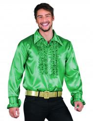 Donker groene disco overhemd voor heren
