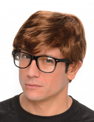 Geheim agent pruik met bril voor mannen