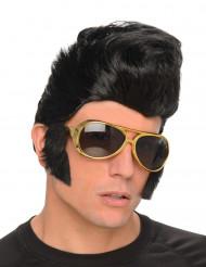 Rock 'n Roll pruik met bril voor mannen