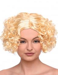 Korte blonde pruik met krullen voor dames