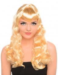 Lange blonde pruik met krullen voor dames