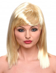 Blonde half lange pruik voor dames