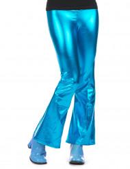 Turquoise disco broek voor vrouwen