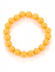 Oranje kralenarmband voor volwassenen