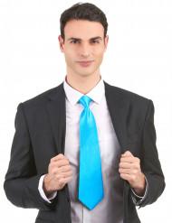 Fluo blauwe stropdas voor volwassenen