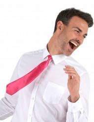 Fluo roze stropdas voor volwassenen