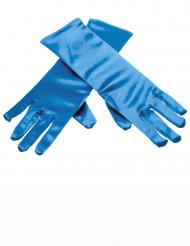 Blauwe ijsprinses handschoenen voor kinderen