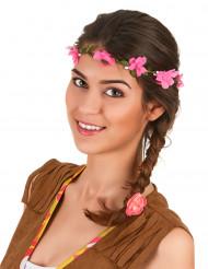 Roze bloemenkrans voor volwassenen